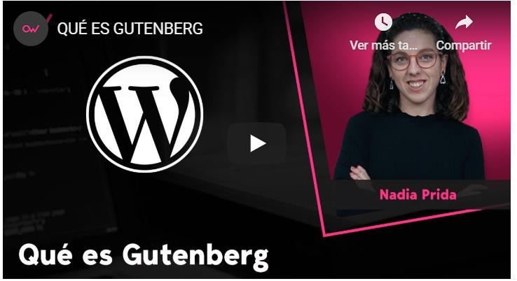 Formaciones OpenWebinars – Gutenberg: creación y edición de bloques
